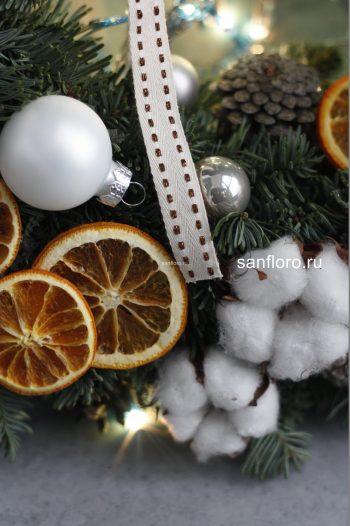 новогодний венок из хвойных веток купить в спб